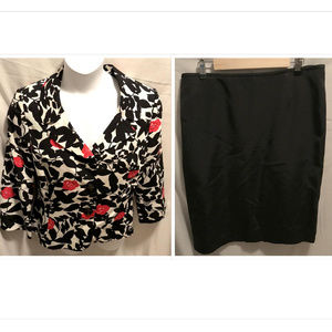 Size 14 Tahari Skirt Suit Set